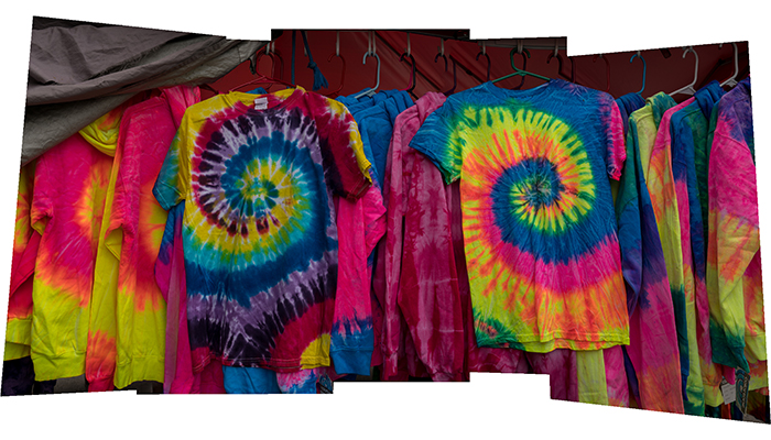 """Tie Dyed Rack"" Fleischmanns' Memorial Day 24"" X 48"" archival inkjet print"