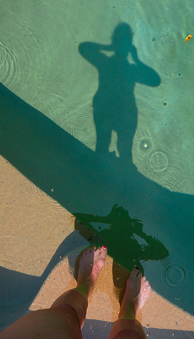 Connie Coleman- Shadow at the Pool - 2008