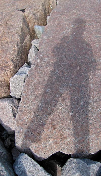 Connie Coleman- Shadow on Rocks-2008