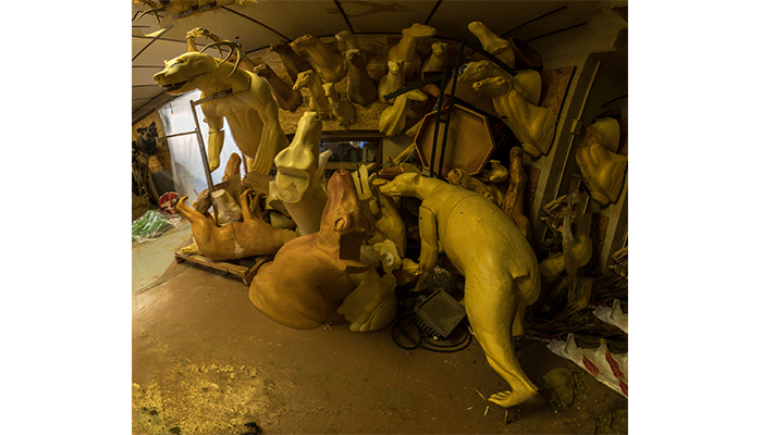 """Taxidermy Forms - right view"" taxidermy shop, photo by Alan Powell"