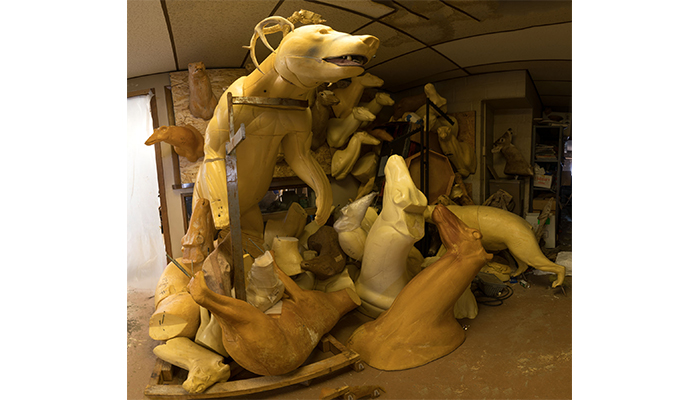"""Taxidermy Forms - left view"" taxidermy shop, photo by Alan Powell 2017"