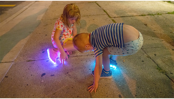 """Night Shoes""  Kids playing on the Sidewalks of Wildwood New Jersey., photo by Alan Powell 2017"