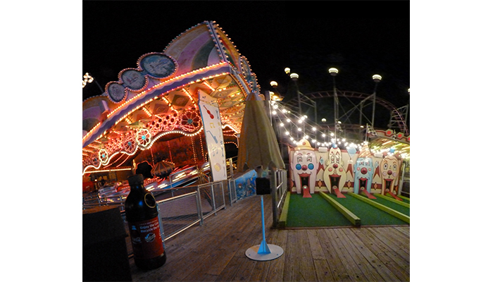 Four Faces, Morey's Piers at Night , Wildwood New Jersey, photo be Alan Powell